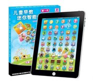 Wholesale Good quality Toy Tablet English Computer Laptop Y Pad Kids Game Music Phone Learning Education Electronic Notebook Early Machine