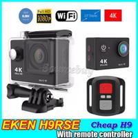 Wholesale Cheap H9 Action camera Original EKEN H9Rse Ultra HD K WiFi P fps quot D lens Cam waterproof Sports cameras