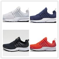 Wholesale Airs Presto New air mesh man running shoes pure White Black green orange women sports sneakers