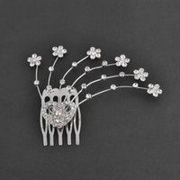 american actresses - Woman Emma Hair Comb in Jewelry Plating Silver Crystal lines with stones Made of Cooper Actress Shiny Rhinestone Hair Accessories