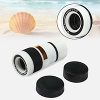 ape clips - White X Zoom Magnifier Optical Telescope Camera Lens w Clip for Mobile Phone mobile Long Focal Lens APE