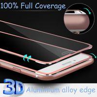 aluminum hardness - 3D Edge Aluminum Alloy Tempered Glass Full Screen Protector For Apple iPhone S Plus H Hardness Screen Protective Film