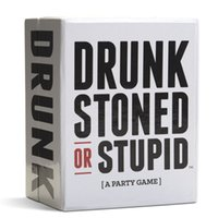 Wholesale 2016 DRUNK STONED OR STUPID A party game for you and your stupid friends Cards