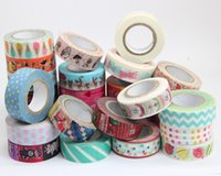 Wholesale 30 Japanese Washi Paper Masking Tape Masking Creative Stationery DIY Stickers Colorful Sticky
