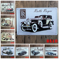 Wholesale Hot sales quot classic cars quot Tin signs movie poster Art House Cafe Bar Vintage Metal Painting wall stickers home decor x30 CM