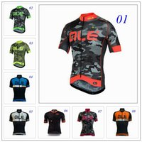ale styles - Newest Ale Cycling Tops Jersey Short Sleeve Men Summer Road Mountan Bicycle Clothing Red Fluo Yellow Green White Styles