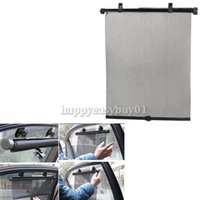 Wholesale Hot Sale House Supplies Universal Car Curtain Roller Blind Auto Window Sunshade Mesh Black E5M1