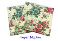 Wholesale RainLoong Flower Paper Napkin Cartoon Festive Party Tissue Napkin Supply Party Decoration Paper cm cm