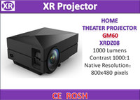 av manufacturing - XRDZ08 HOME THEATER PROJECTOR GM60 Factory manufacture GM60 P led mini Projector with AV USB VGA SD HDMI