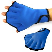 adult hockey equipment - Adult child swim webbed hands Swimming training equipment Both men and women paddles imitation duck palm diving gloves