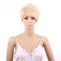 Wholesale Short Wigs Wigs Fashion Women Party Sexy Short Straight Mixed Synthetic Hair Full Wig Ladies Short Wig Blonde Fashion Wigs