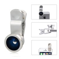 Wholesale Silver in1 Fisheye Wide Angle Macro Lens Kit for Apple iPhone Plus S Samsung