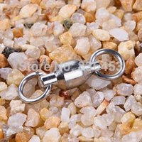 anti worm - 2015 New Ball Bearing Fishing Rolling Swivel Solid Rings Connectors Lures Stainless Steel Anti Corrosion