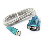 Wholesale ASDOMO Blue USB to RS232 Serial Port Pin Cable Serial COM Port Adapter Convertor T1309 W0