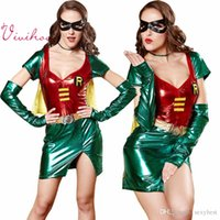 adult superhero - Women Superhero Superman Costumes Adult Halloween Wonder Women Superwomen Cosplay Metallic Look Dresses Sexy Role Play Outfits
