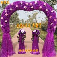 Wholesale Cheap silk wedding flower door arches flowers heart shaped
