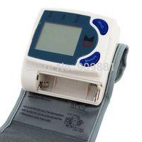 Wholesale 10pcs Digital LCD Wrist Arm Cuff Blood Pressure Monitor Heart Beat Meter Machine Gauge Tester Sphygmomanometer Freeshipping