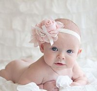 baby bans - 2016 Christmas diamond pearl leaves hollow lace headdress Newborn baby infant casual hair accessories Children s Wedding Floral headwear ban