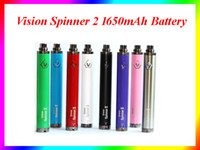 Wholesale 10pcs Sale Vision Spinner II mAh Ego twist V vision2 variable voltage vv battery for e cigs Electronic cigarette ego atomizer