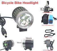 al por mayor cree ocultó el kit-Bici de bicicleta Faro 3 * CREE T6 3800 lumen Kit faros delanteros 4 Modos + recargable 4 * 18650 Pack de baterías