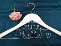 Wholesale double line hanger Personalized Wedding Hanger bridesmaid gifts name hanger brides hanger
