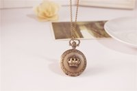 Wholesale DHL Antique Pocket watch with chain Necklace Classic Pocket Watches