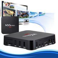 Wholesale MXQ pro Smart Android OTT TV Set Top Box Amlogic S905 Quad Core Media Player Kodi fully loaded K Streamer streaming boxes