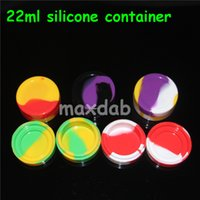 big glass jar - Non stick Big Wax Containers silicone box Silicon container dabber mm ml food grade wax jars dab storage glass bong DHL free