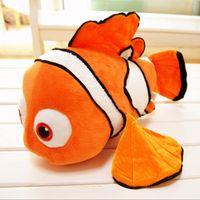 "Wholesale Small Plush Fish - 1pcs 9"" 23cm small plush toy Nemo clownfish Nemo plush toy golden fish hot selling super gifts for kids free shipping"