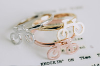 best bicycle brands - 2016 a new fashion jewelry quality cartoon brand design model of bicycle ring with girl Midi finger ring festival best gift