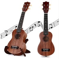 Wholesale Inch Soprano Ukulele TOKKY Uke Four Strings Instrument Brown Laser Engraving No border Semi closed Rosewood Sapele Ukelele