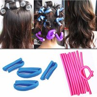 Wholesale Fashion Hair Curling Magic Air Hair Roller Curler Soft Foam Bendy Magic DIY Styling Hair Sticks Tool air bendy hair roller