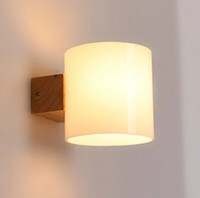 cheap simple modern solid wood sconce led wall lights for home bedroom bedside wall lamp indoor cheap wall lighting