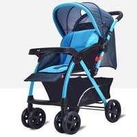 baby carriage baskets - New Foldable Baby Stroller Portable Infant Carriage Large Basket By Comfortable Baby Sitting and Lying Pushchair JN0093
