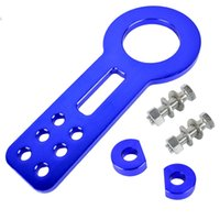 Wholesale DHL Auto Vehicles Car Front Rear Tow Hook Set Aluminum Racing Towing Tool Kits Blue