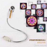 Wholesale Mini USB fan LED Mini Colorful Flexible USB Fan Cooling Cooler For Notebook Laptop PC