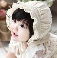 baby sun bonnets - High Quality Newborn Baby Girls Cotton Hats Sun Cap Bonnet Infants Toddler Sunhat Beanies Month A5