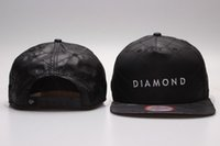 Wholesale Full Black Diamond Snapback Classic Men s women adjustable baseball caps Embroidery Fitted Flat Hats cheap cap