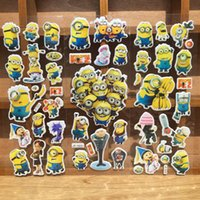backing paper for books - Cartoon Despicable Me Minion Wall Stickers D Bubble Paster Wall Book Phone Bubble Posted Wallpaper For Kids Children Gift