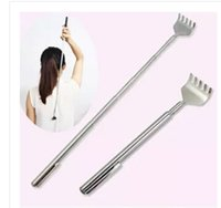 Wholesale Kikkerland Stainless Steel Body Massager Extendable Extending Telescoping Back Scratcher With Pen Pocket Clip Handy Pocket Portable