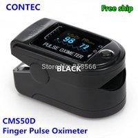 Wholesale CONTEC Sale FDA CE Finger Pulse Oximeter Fingertip Oxygen Monitor SPO2 PR CMS50D