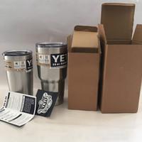 Wholesale Yeti oz oz oz Cups Cooler YETI Rambler Tumbler Travel Vehicle Beer Mugs Double Wall Bilayer Vacuum Insulated Stainless Steel