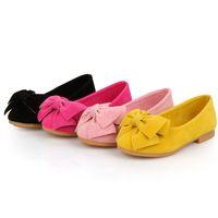 bear muscles - Baby Girl Shoes Princess Girls Big Bowknot Bear Dress Shoes Spring Korean Children Sweet Bow Leather Shoe KB348