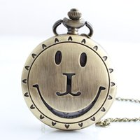 antique watch face necklace - Vine Jewelry Hollow Smile Face Pocket Watch Necklace Men s Women Xmas Gift