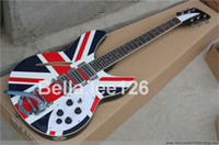 Wholesale UK flag top semi hollow body guitar string big bar system electric guitar