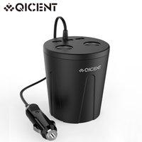 apples fridge - QICENT USB and Volt DC Cup Holder Power Adapter Cigarette lighter For Apple Iphone S Car Personal Fridge GPS Black