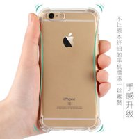 airbag cover - Airbag Anti shock TPU Mobile Covers Soft Colorful Transparent Silicone Cover Quadrangle Prevent Fall Air Float Protector for iPhone6 plus
