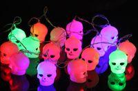 bar items - 2016 Halloween Skeleton glow Halloween pumpkin lamp decoration light pumpkin led lamps ghost light spot bar decoration items