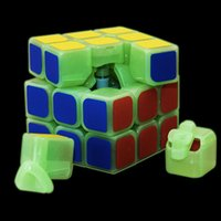 Wholesale New Yj Sulong Luminous x3 Spring Speed Glow in dark Magic Cube Puzzle Twist Toy