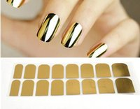 beauty patch - Gold or Silver and Black Nail Art Decorations Sticker Patch Foils Armour Stickers Cool Nail Stickers For Nails Beauty b121